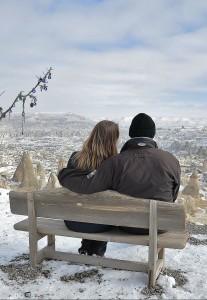 любовь снег зима